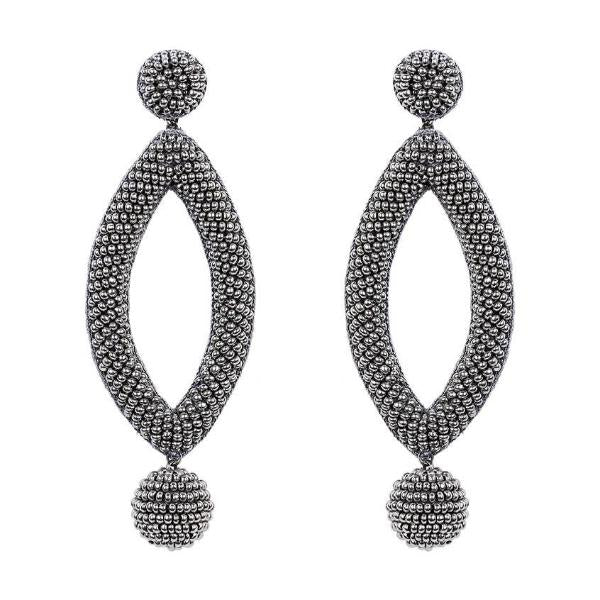 Deepa by Deepa Gurnani Handmade Gunmetal Lee Earrings