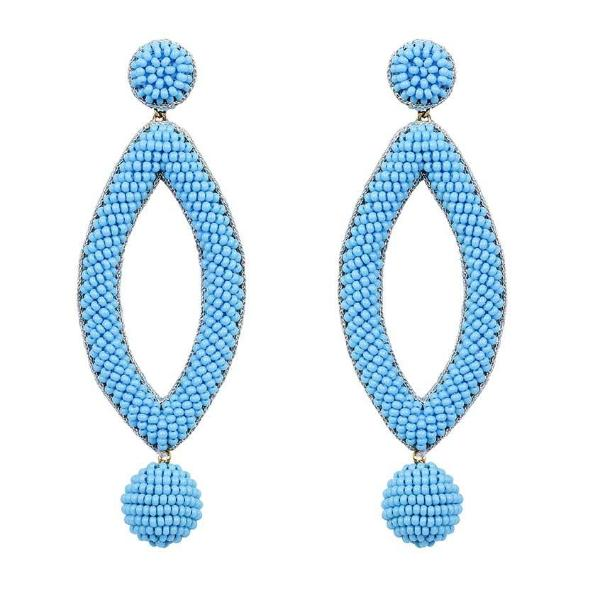 Deepa by Deepa Gurnani Handmade Sky Blue Lee Earrings