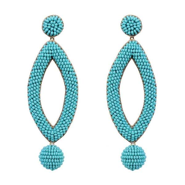 Deepa by Deepa Gurnani Handmade Turquoise Lee Earrings