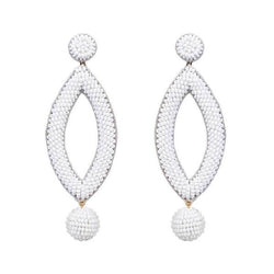 Deepa by Deepa Gurnani Handmade White Lee Earrings