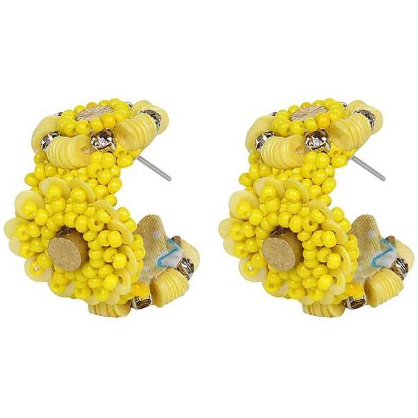 Deepa by Deepa Gurnani Handmade Dayana Earrings in Yellow