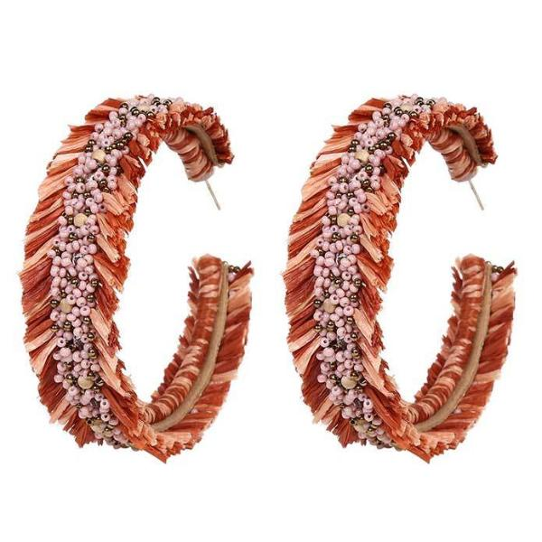 Deepa by Deepa Gurnani Handmade Emersyn Earrings in Coral