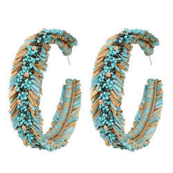 Deepa by Deepa Gurnani Handmade Emersyn Earrings in Turquoise