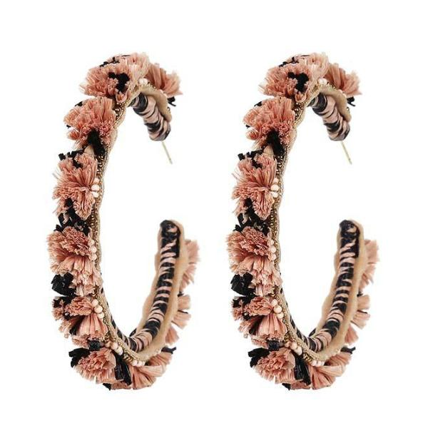 Deepa by Deepa Gurnani Lightweight Handmade Peach Color Elaina Earrings