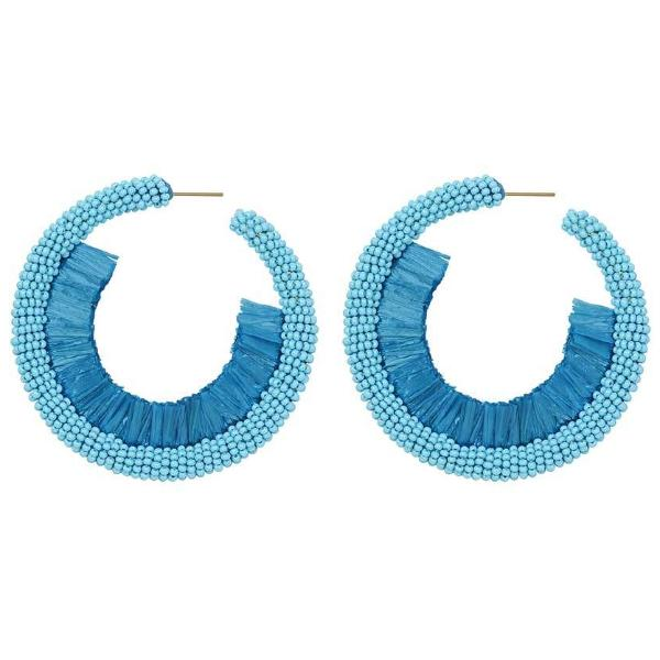 Deepa by Deepa Gurnani Handmade Giona Earrings in Turquoise