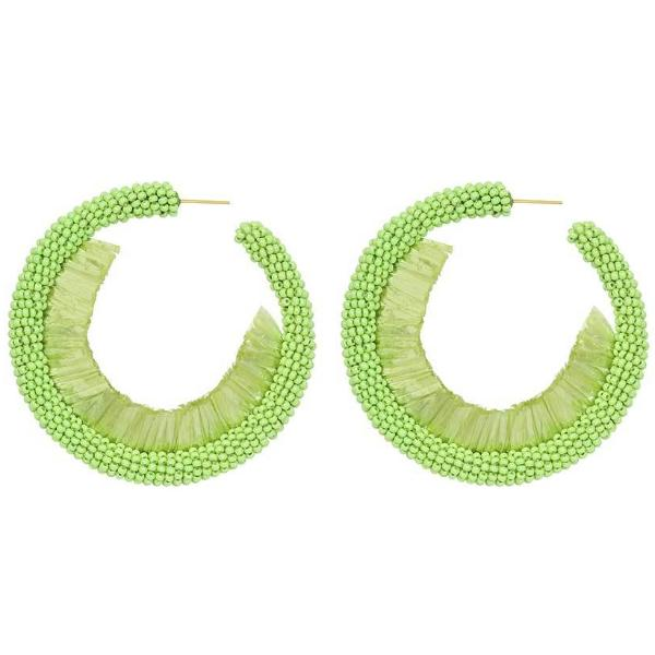 Deepa by Deepa Gurnani Handmade Giona Earrings in Lime