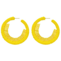 Deepa by Deepa Gurnani Handmade Giona Earrings in Yellow