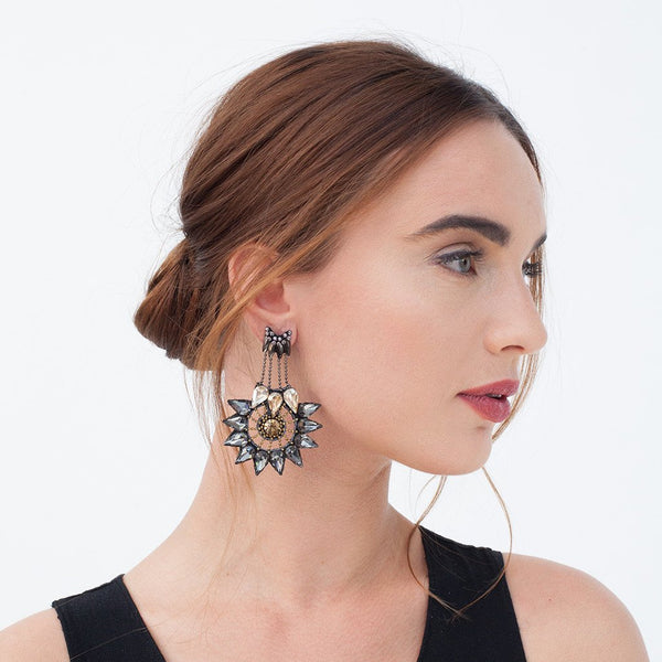Model Wearing Deepa by Deepa Gurnani Handmade Keeya Earrings