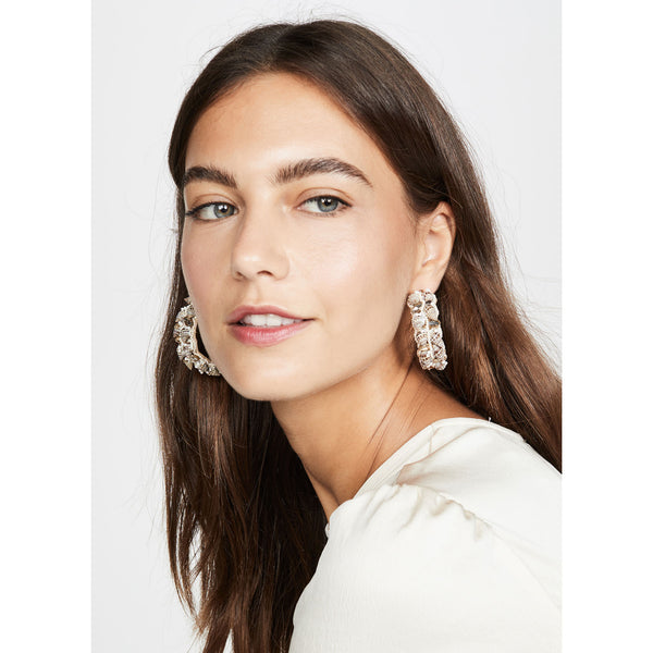 Fashion statement shell earrings