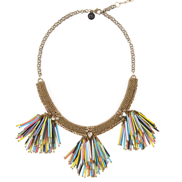 Deepa by Deepa Gurnani Handmade Larra Necklace in Multicolor