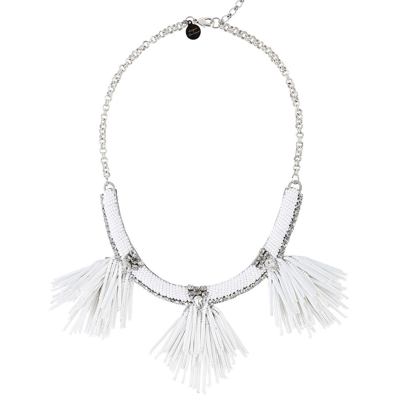Deepa by Deepa Gurnani Handmade Larra Necklace in White