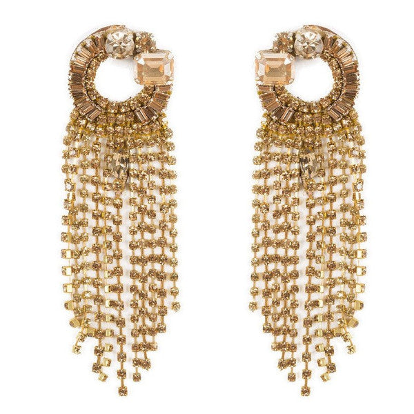 Deepa by Deepa Gurnani Handmade Mavis Earrings in Gold