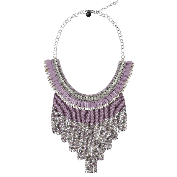 Deepa by Deepa Gurnani Handmade McKay Necklace in Lavender