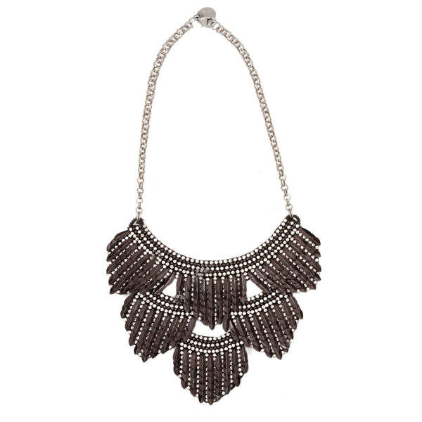Deepa by Deepa Gurnani Handmade Meadow Necklace in Black