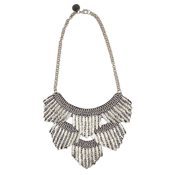 Deepa by Deepa Gurnani Handmade Meadow Necklace in Silver