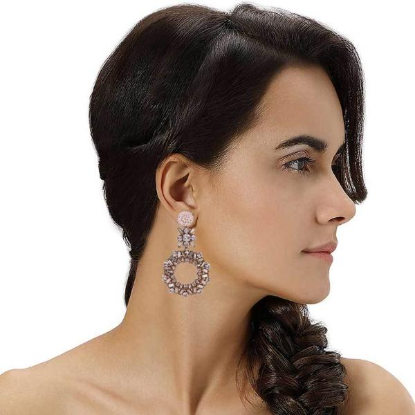 Model Wearing Melissa Earrings