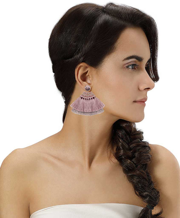 Model Wearing Deepa by Deepa Gurnani Handmade Morna Earrings