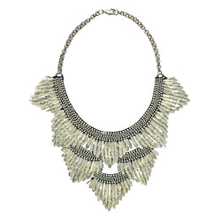 Deepa by Deepa Gurnani Handmade Jaliyah Necklace in Silver