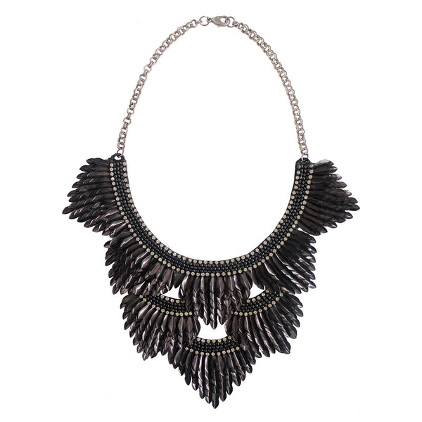 Deepa by Deepa Gurnani Handmade Jaliyah Necklace in Black