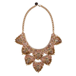 Deepa by Deepa Gurnani Handmade Rizka Necklace in Gold