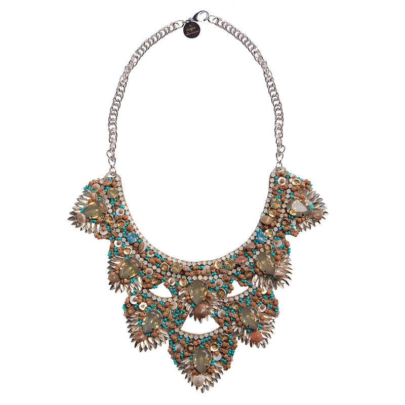 Deepa by Deepa Gurnani Handmade Rizka Necklace in Silver