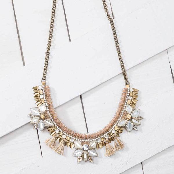 Deepa by Deepa Gurnani Handmade Gold Color Terra Necklace Lifestyle Image