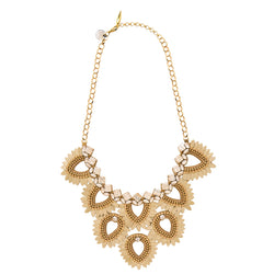 Deepa by Deepa Gurnani Handmade Samantha Necklace in Gold