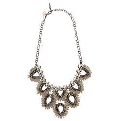 Deepa by Deepa Gurnani Handmade Samantha Necklace in Gunmetal