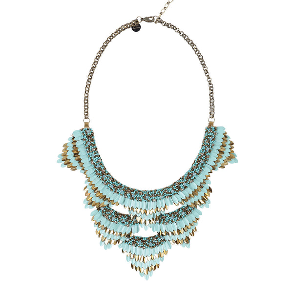 Deepa by Deepa Gurnani Handmade Jen Necklace in Turquoise