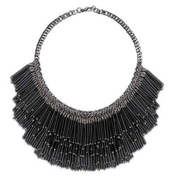 Deepa by Deepa Gurnani Handmade Yvette Necklace Black