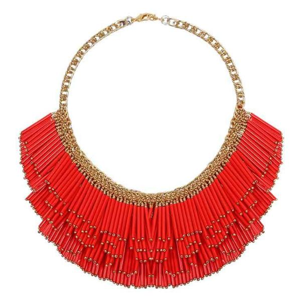 Deepa by Deepa Gurnani Handmade Yvette Necklace Red