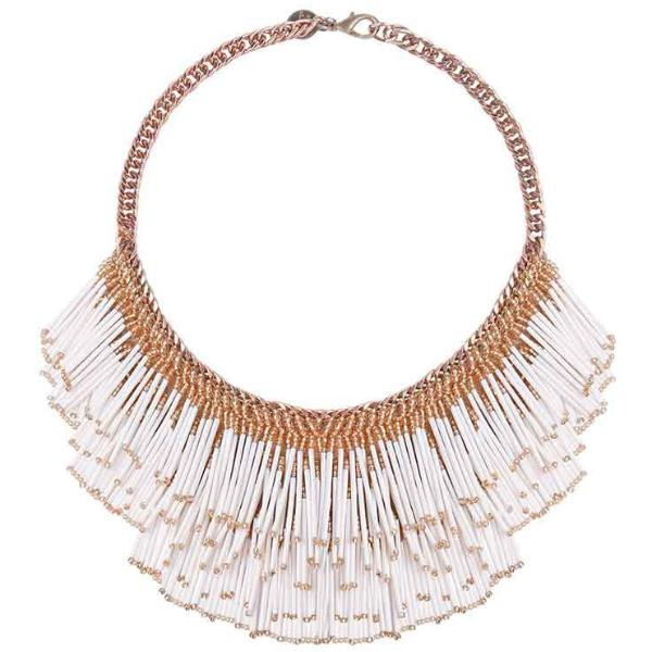 Deepa by Deepa Gurnani Handmade Yvette Necklace White