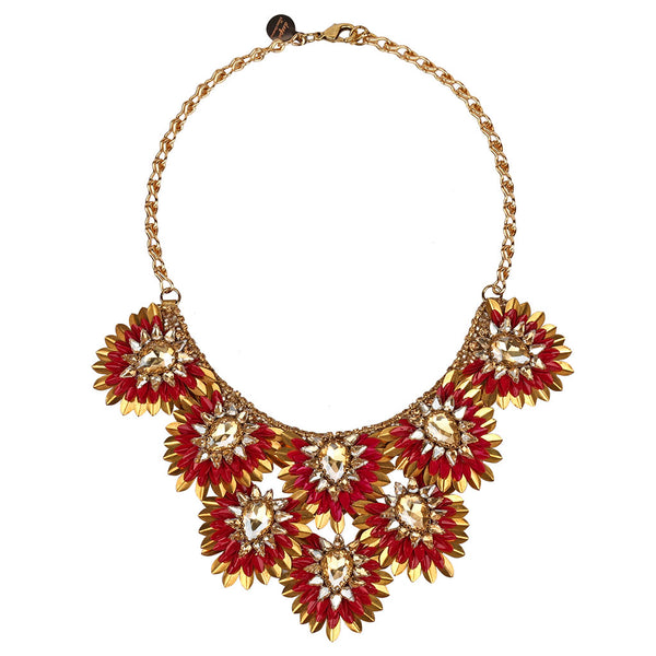 Deepa by Deepa Gurnani Handmade Aria Necklace in Burgundy