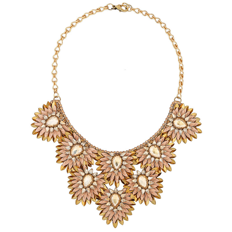 Deepa by Deepa Gurnani Handmade Aria Necklace in Peach