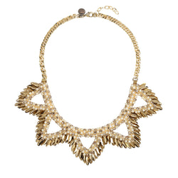 Deepa by Deepa Gurnani Handmade Abrielle Necklace in Gold