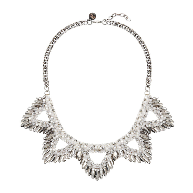 Deepa by Deepa Gurnani Handmade Abrielle Necklace in Silver