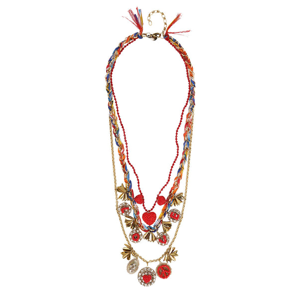 Deepa Gurnani Handmade Charley Necklace in Gold