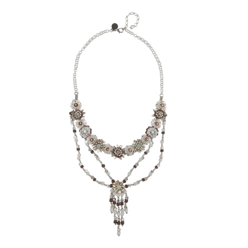 Deepa by Deepa Gurnani Handmade Indie Necklace White