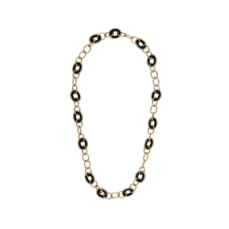 Deepa by Deepa Gurnani Handmade Lillie Necklace Black