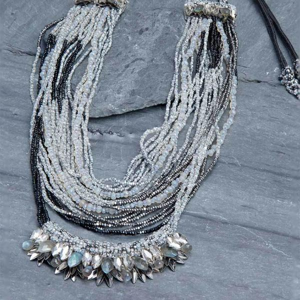Deepa Gurnani Handmade Margarita Luxe Necklace on Slate Background
