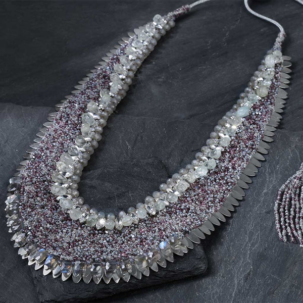 Deepa Gurnani Handmade Viviene Necklace on Slate Background