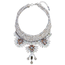 Deepa Gurnani Handmade Cataleya Statement Necklace
