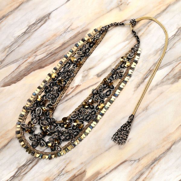 Deepa Gurnani Handmade Milika Necklace on Marble Background
