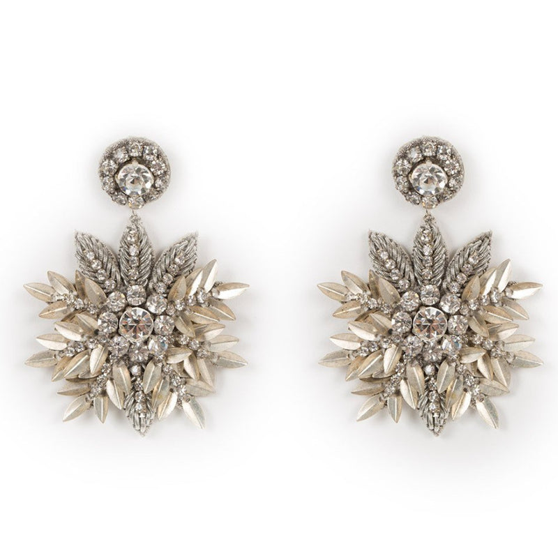 Deepa Gurnani Handmade Pandora Earrings in Silver