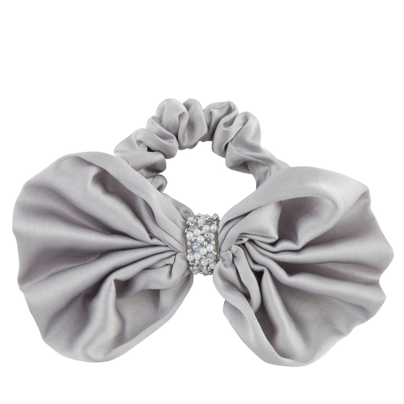 Deepa by Deepa Gurnani Nolita Bow Scrunchie Grey