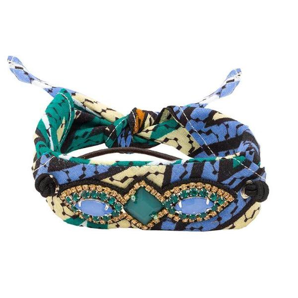 Deepa by Deepa Gurnani Handmade Kimberly Pony Wrap in Blue