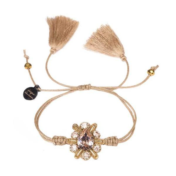 Deepa by Deepa Gurnani Estrella Cord Bracelet in Gold Color