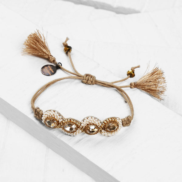 Deepa by Deepa Gurnani Handmade Hilary Bracelet on Wood Background