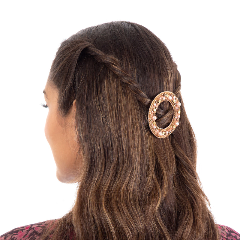 Beautifully hand embroidered hair clip  by Deepa Gurnani