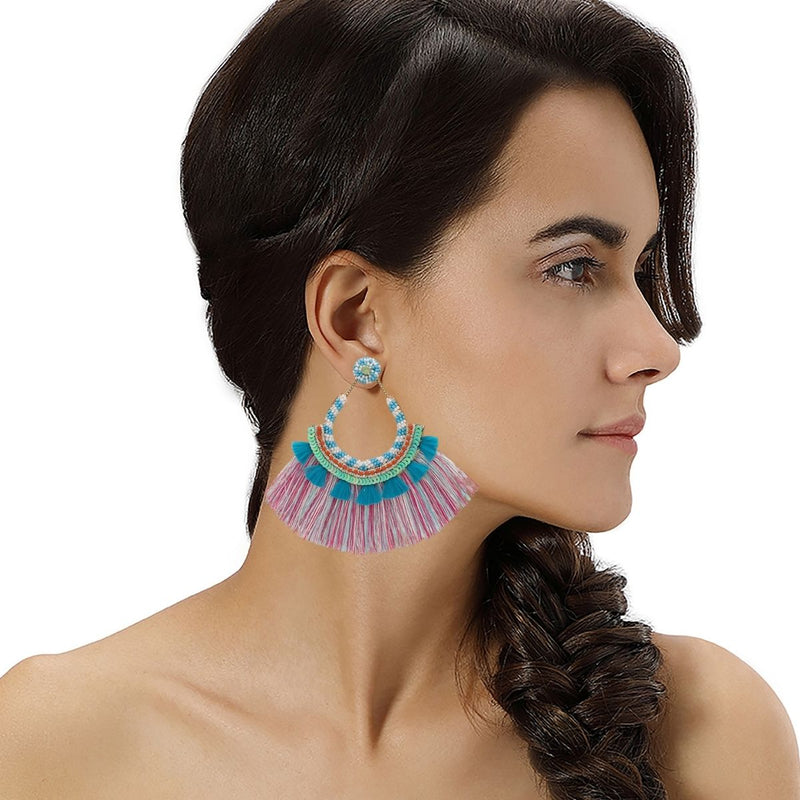 Handmade Statement Beaded Earrings